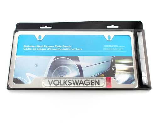 VW Polished License Plate Frame (Z009)