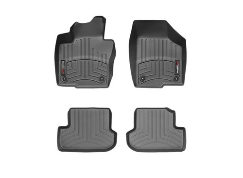 VW Beetle Convertible WeatherTech FloorLiners- Full, Black