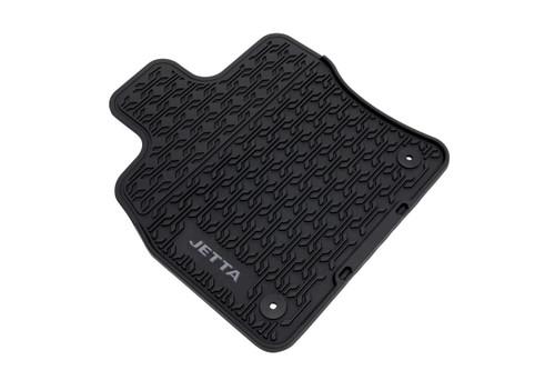 Nylon Carpet Coverking Custom Fit Front Floor Mats for Select Nissan Versa Models Black