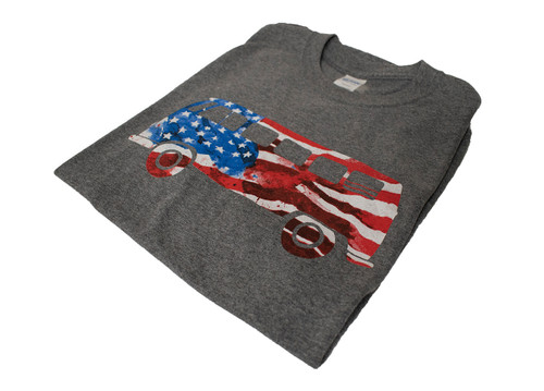 VW T-Shirt - American Flag Bus