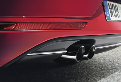 VW Golf SportWagen Exhaust Tips - Black
