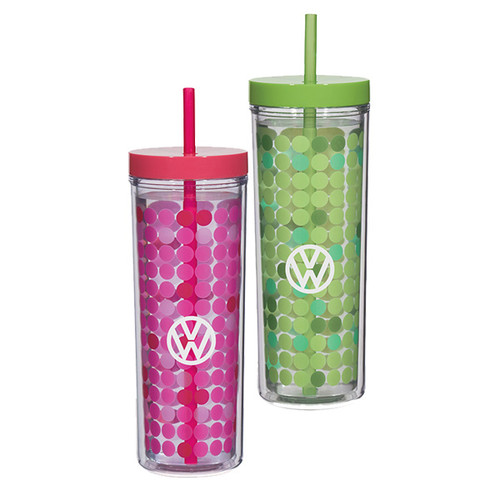 VW Color Changing Tumblers with Cold Beverage