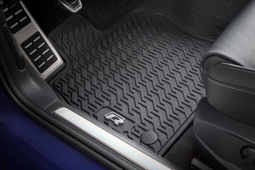 VW Golf R Rubber Floor Mats