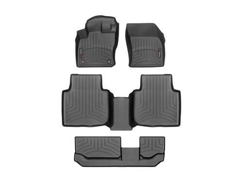 2020-2021 VW Tiguan WeatherTech Floor Liners - Complete Set Shown