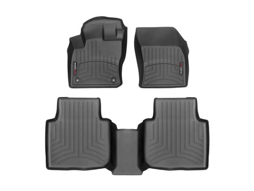 2020 VW Tiguan WeatherTech Floor Liners - Front and Second Row Mats Shown