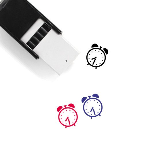Alarm Clock Self-Inking Rubber Stamp No. 10