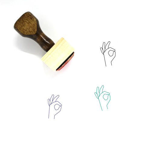 A Ok Wooden Rubber Stamp No. 2