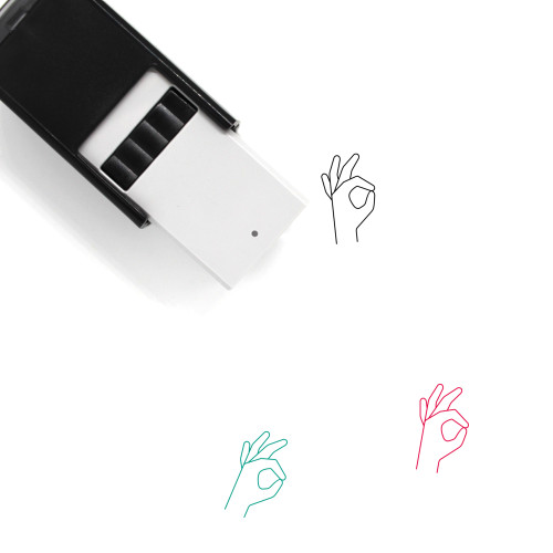 A Ok Self-Inking Rubber Stamp No. 2