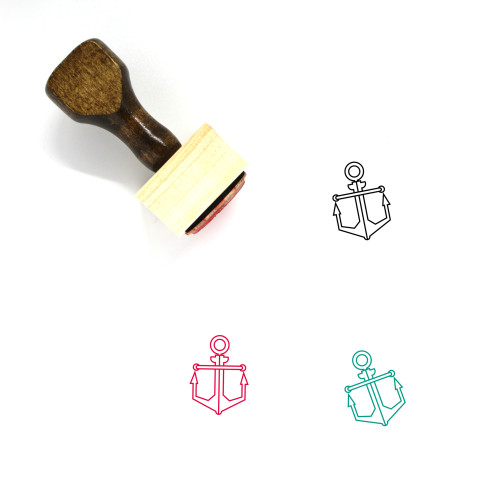 Anchor Wooden Rubber Stamp No. 168