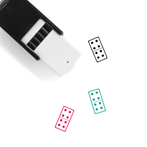 Domino Self-Inking Rubber Stamp No. 11