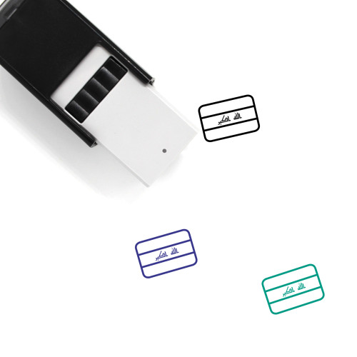 Iraq Flag Self-Inking Rubber Stamp No. 2