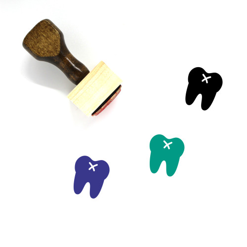 Tooth Wooden Rubber Stamp No. 7
