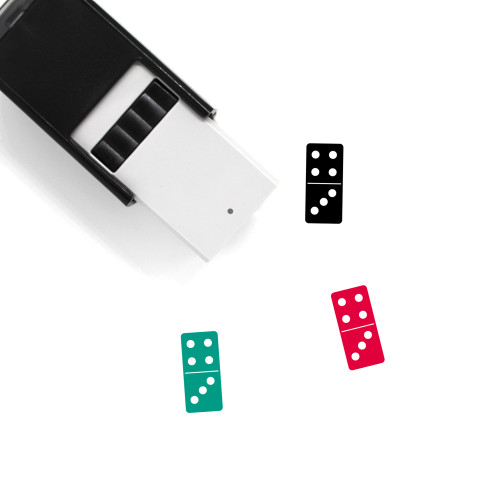Domino Self-Inking Rubber Stamp No. 12