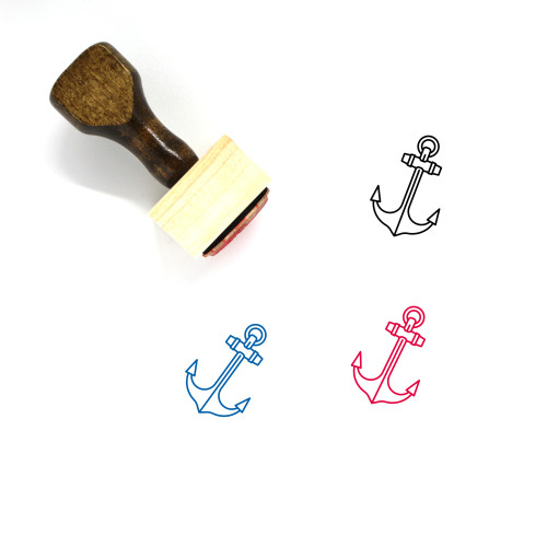 Anchor Wooden Rubber Stamp No. 183