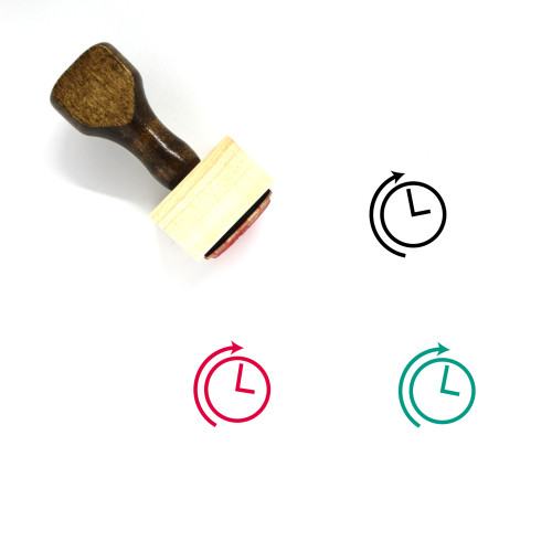 Clock Wooden Rubber Stamp No. 336