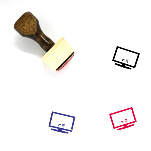 Television Wooden Rubber Stamp No. 11