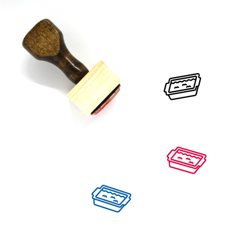 Stuffing Wooden Rubber Stamp No. 4