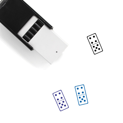 Domino Self-Inking Rubber Stamp No. 14