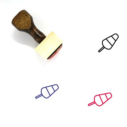 Popsicle Wooden Rubber Stamp No. 8