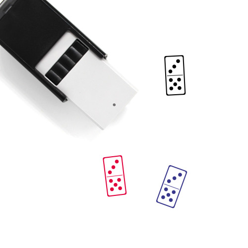 Domino Self-Inking Rubber Stamp No. 15