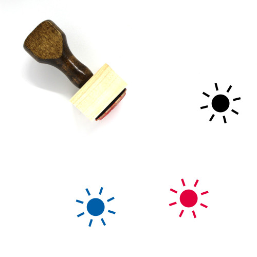 Sun Wooden Rubber Stamp No. 114