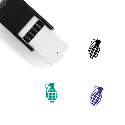 Grenade Self-Inking Rubber Stamp No. 10