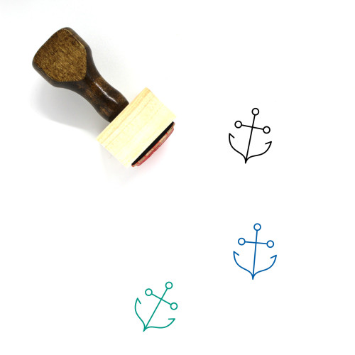 Anchor Wooden Rubber Stamp No. 209