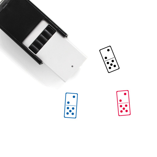 Domino Self-Inking Rubber Stamp No. 16