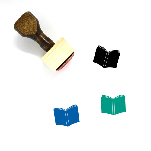 Book Wooden Rubber Stamp No. 361