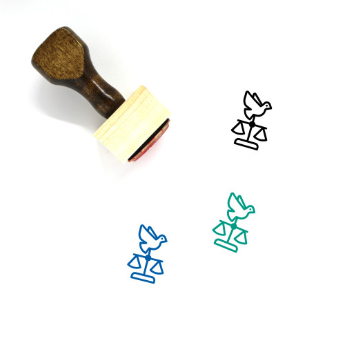 Human Rights Wooden Rubber Stamp No. 2