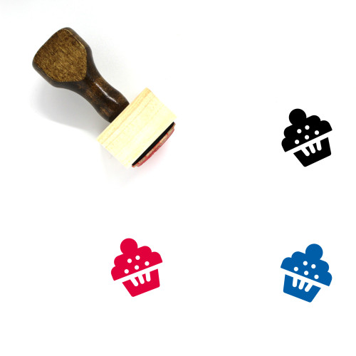 Muffin Wooden Rubber Stamp No. 4