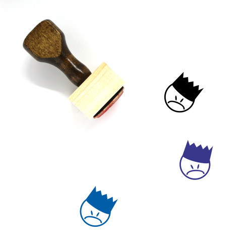 Angry King Wooden Rubber Stamp No. 1
