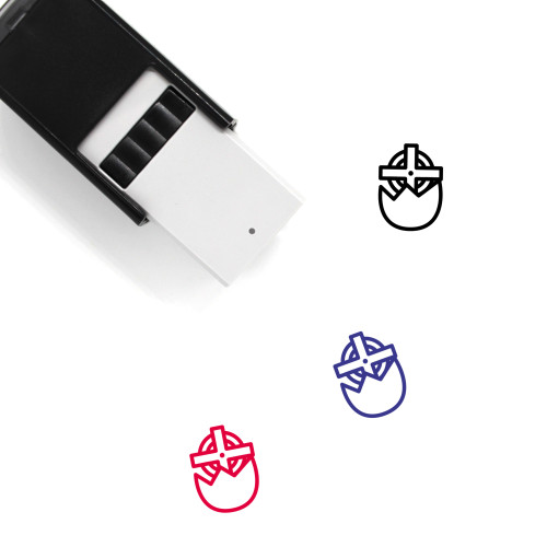 Easter Egg Self-Inking Rubber Stamp No. 338