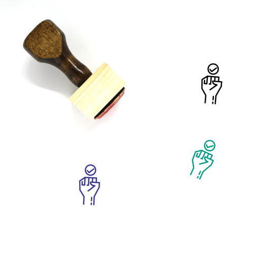 Fight For The Rights Wooden Rubber Stamp No. 1