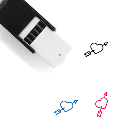 Heart With Arrow Self-Inking Rubber Stamp No. 6