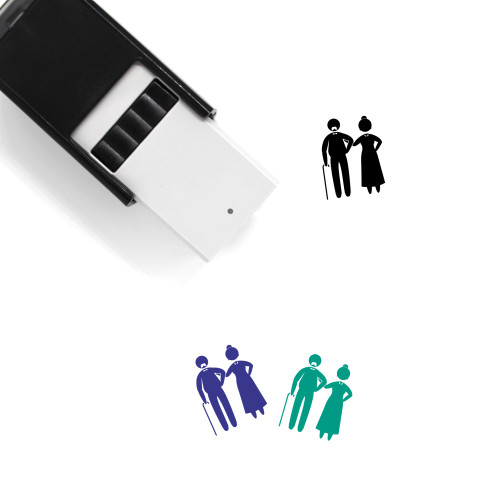 Old Couple Self-Inking Rubber Stamp No. 1