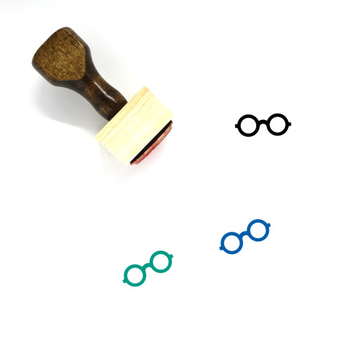 Glasses Wooden Rubber Stamp No. 37