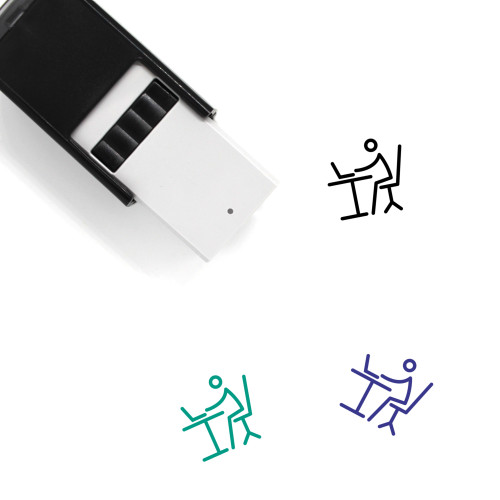 Work Station Self-Inking Rubber Stamp No. 2