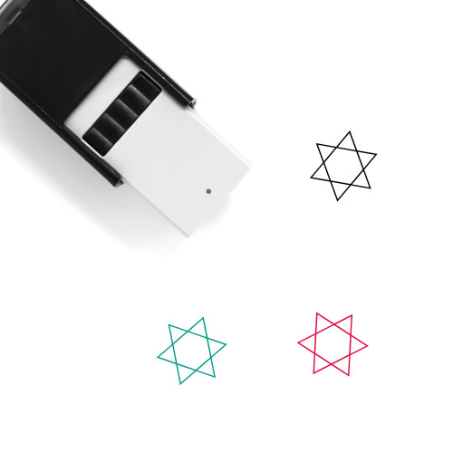 Star Of David Self-Inking Rubber Stamp No. 18