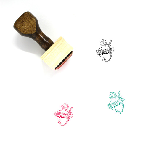 Sacred Heart Wooden Rubber Stamp No. 4