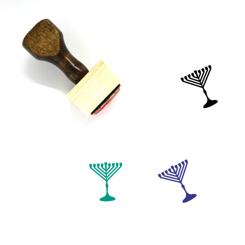 Menorah Wooden Rubber Stamp No. 49