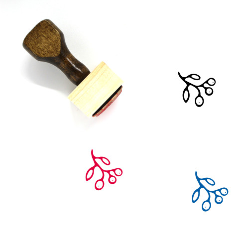 Cranberry Wooden Rubber Stamp No. 2