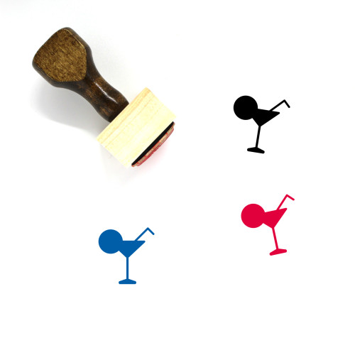 Cocktail Wooden Rubber Stamp No. 11