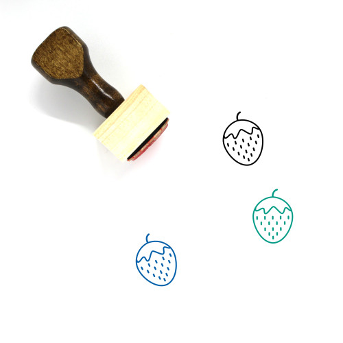 Strawberry Wooden Rubber Stamp No. 55