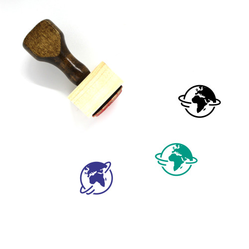 Africa And Europe Wooden Rubber Stamp No. 2