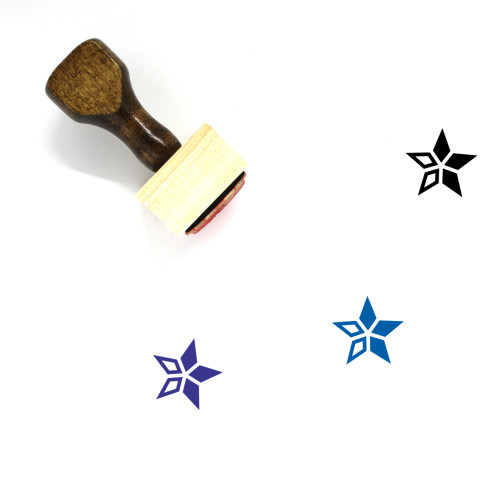 Star Wooden Rubber Stamp No. 2