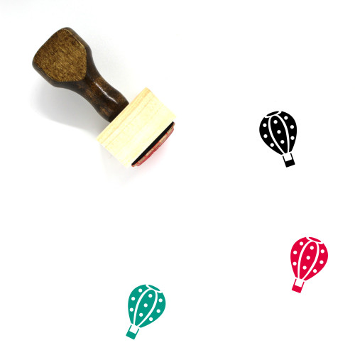 Hot Air Balloon Wooden Rubber Stamp No. 13