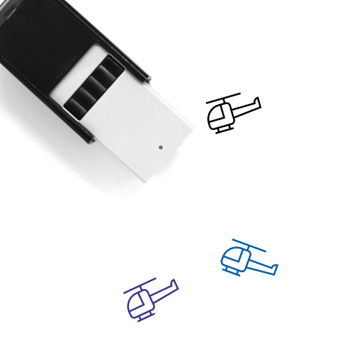 Helicopter Self-Inking Rubber Stamp No. 29
