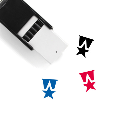 Star Medal Self-Inking Rubber Stamp No. 1