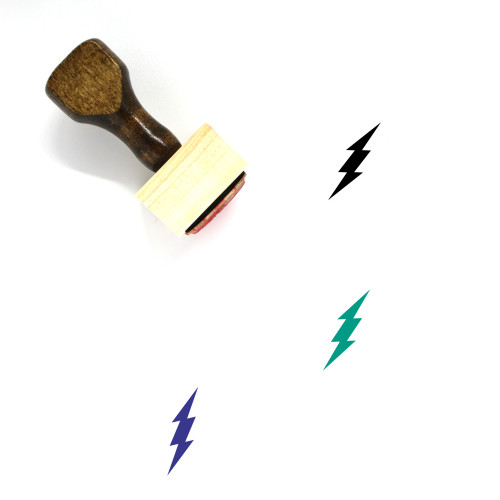 Lightning Bolt Wooden Rubber Stamp No. 9